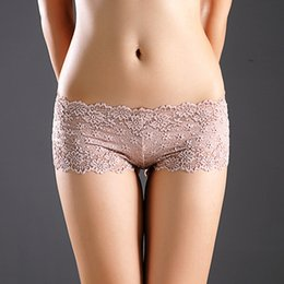 Wholesale lingerie boy resale online - Sexy lace Daisy panties see through Low waist Floral boy shorts Lingerie briefs women underwear pants women clothing will and sandy gift