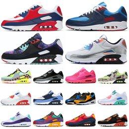 venda por atacado USA 90 tênis masculino mulheres chaussures tênis Camo Worldwide Supernova triplo branco preto masculino 90s
