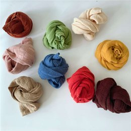 pashmina scarf solid color UK - Han Chaofan square solid color children's knitting scarf versatile in autumn and winter