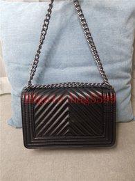 Venta al por mayor de Diseñador de moda Mujeres Crossbody Messenger Bolsa de hombro Bolsas de cadena Bolsas de cuero de buena calidad Monederos de cuero Señoras Bolso de alta capacidad