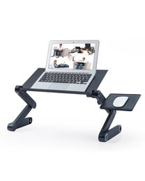 Adjustable Height Laptop Stand for Bed Portable Desk Foldable Table Workstation Notebook RiserErgonomic Computer Tray Reading Holder Standing Aluminum alloy