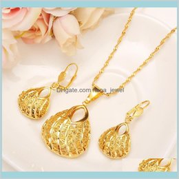 gold silver mix jewellery 2021 - Sets Bracelet Earrings Ethiopian Set Bag Shape Pendant Earring African Bridal Wedding Jewellery Arab Mother Girlsgift Diy Charms Girpj