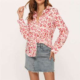 Wholesale long sleeve fall floral blouse for sale - Group buy Womens Floral Chiffon Blouses Casual Spring Fall Long Sleeve Lapel Neck Shirts Women Loose Single breasted Blouses
