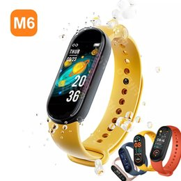 tracker pour mobile achat en gros de-news_sitemap_homeM6 Smart Bracelet Watch Fitness Tracker Fréquence cardiaque Structure de la tension artérielle Ecran de couleur IP67 imperméable pour téléphone mobile