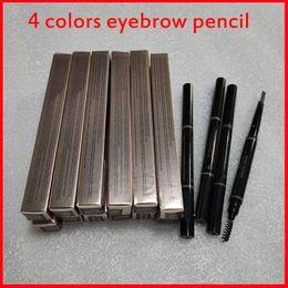 Maquillage des sourcils Maquillage Maquillage Skinny Skinny Pencil Or Double Terminé avec Brow Brow Brush 5 Couleur Ebony / Medium / Soft / Dark Drop Ship en Solde