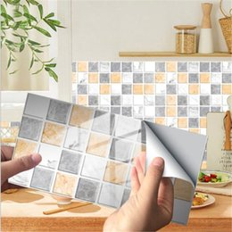 Wholesale 48Pcs Pack 20x10cm 40 Color Marble Bricks Self-adhesive PVC Wall Stickers DIY Bathroom Kitchen Walls Tile Stair Sticker Part 2