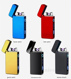 Discount touch electronic lighter fingerprint touch sensitive power display lighters charging windproof creative lighter USB electronic cigarette lighter ZC204