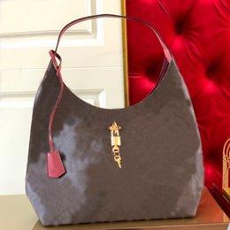 High Quality Designer Hobo Handbag Purse Canvas Leather Shoulder Bag Metal Flower Padlock Magnetic Buckle Lady Tote Bag Large Capacity Shopp