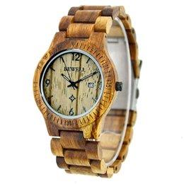 Custom made fried street bewell wood watch men's Quartz Watch on Sale