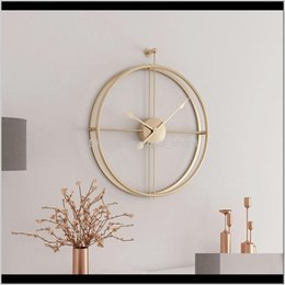 hanging calendar UK - Décor Garden Drop Delivery 2021 55Cm Large Silent Clock Modern Design For Home Decor Office European Style Hanging Wall Watch Clocks T200104