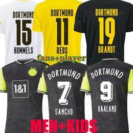 venda por atacado Dortmund 20 21 21 21 Edição limitada Jersey Haaland Reus borussia 110th 2020 2021 uniformes de futebol Bellingham Sancho Hummels Brandt Men Kit Jogador Versão