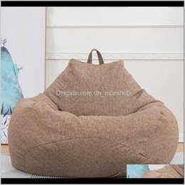 Ers Sashes Textiles & Garden Drop Delivery 2021 Cotton Linen Bean Bag Sofa For Living Room Balcony Tatami Single Chair Er Home Furniture Lazy
