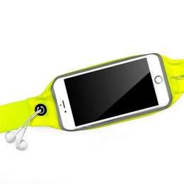 Опт Серия жизнеспособности ряд Двойной карманный спортивный талии с функцией экрана сенсорного телефона для телефона 3,5-5 дюймов (зеленый)