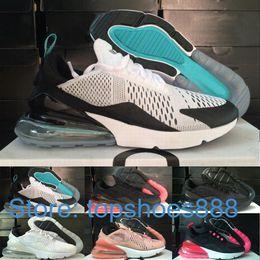 Atlética Nike Vapormax 270 Air Max capacitadores de los hombres del aire del arco iris diseñadores zapatillas caminando 270S Negro Blanco 27c Max mujeres de los zapatos corrientes en venta