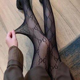 Fashion designer pantyhose classic letter mesh silk socks women sexy underwear ball Leggings Socks