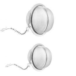 Infusor de té de bola con cadena de acero inoxidable Malla portátil Filtro de hoja de hoja de metal de cocina de metal. en venta