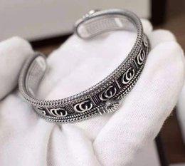 Wholesale 70% OFF Luxury Jewelry Gujiayin double stripe three dimensional King Snake open gear edging trendy men's Bracelet