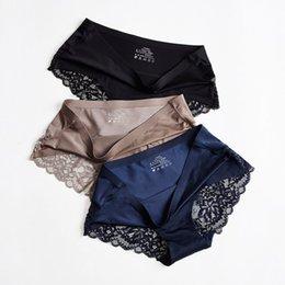 Mesdames léopard sous-vêtements Érotique Culotte Bikinis Briefs Knickers Thongs Ice soie