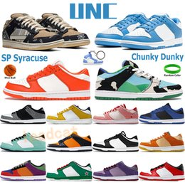 SP syracuse UNC men women basketball shoes low sneakers chunky dunky white black coast chicago sports trainers university red mens shoe on Sale