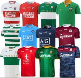 Wholesale wine s resale online - 20 Dublin GAA Home Rugby Jersey CAILLIMH TIPPERARY ÁTH CLIATH shirt DAVID TREACY TOM CONNOLLY Rugby shirts S XL