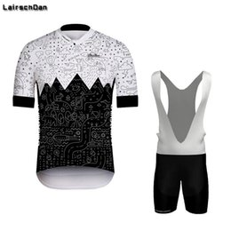 Wholesale Racing Sets LairschDan Men s Summer MTB Cycling Jersey Maillot Cyclisme Homme Black And White Simplicity Team Road Bike Riding Outfit