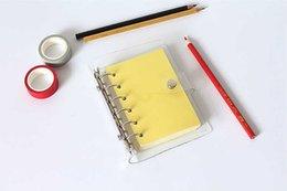 Опт 6 отверстий Binder Planner Cover Get Free A5 / A6 / A7 PVC Cover Cover Picture Папка Папка листовой оболочки Офисная школа Канцтовары Прозрачный