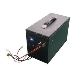 Metal Konut 2880 WH Şarj Edilebilir LG 48 V 60Ah 70ah Lityum İyon Lipo Pil Ile Monitör ve BMS Elektrikli Çekçek / Elektrikli Üç Tekerlekli Bisiklet / Taşınabilir Güç Kaynağı Için BMS