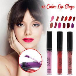 Wholesale lips colours resale online - Different Colours Lip Glaze Set Waterproof Velvet Matte Gloss Lipstick ml Non stick Cup Sexy Makeup G