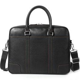 Wholesale Genuine Leather Men's Briefcase Handbag laptop Bag Cross Section Men's Computer Bag Business Affairs Bags#301