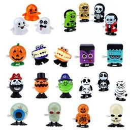 Wholesale Electronic Pets Novelty and interesting clockwork toys on the chain with eyes jumping teeth ghost Halloween Christmas children's small gift toy