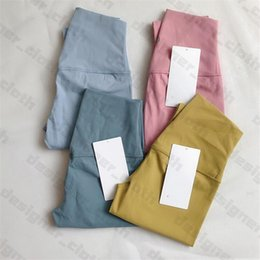 32 Renk Bayan Tayt Tasarımcılar Yoga Kıyafet Pantolon Yüksek Bel Hizala Klasik Spor Spor Giyim Pantolon Elastik Fitness Giymek Tulum Tam Tayt Egzersiz Sıkı Pantolon