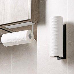 Topes de papel higiénico Soporte de toalla de acero inoxidable Rack Cocina Rollo Autoadhesivo Toliet Accesorios en venta
