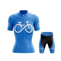 Wholesale Racing Sets SPTGRVO Maillot De Cyclisme Femme Blue Bicycle Clothing Set Mountain Bike Jersey D Gel Pad Shorts Suit Women Cycling Kit