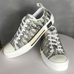 Wholesale Low Air Dìòr B23 Oblique Luxurys High Top Sneakers Shawn Baskets KAWS Kim Jones Hommes Chaussures Men Women Casual Shoes 418