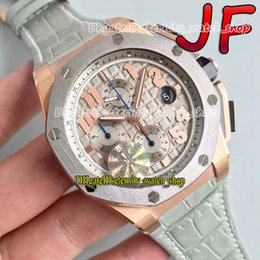 eternity Stopwatch Watches JFF Limited Edition James 26210 CAL.3126 JF3126 Chronograph Automatic Movement Mens Watch 18k Rose Gold Case Leather Strap 109001 on Sale