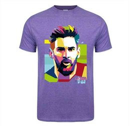 fans tops tees Australia - T Shirt Fashion Printing Barcelona Men's Short Sleeve Messi 10 Cotton Tshirt Tops Argentina Jersey Hipster Fans Tee Shirt