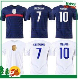 Euro 2020 Cup Mbappe Griezmann França Jersey Pogba Giroud Kante Maillot de Foot Equipe Maillots Camisa De Futebol Uniformes LA 2021 100 Ó 100 Anos Men + Kids Kit em Promoção