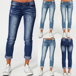 pants block UK - Color Block High Waist Flare Jeans With Pockets Streetwear Sexy Ladies Trousers Spliced Bell Bottoms Skinny Denim Pants