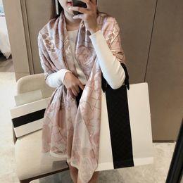 Wholesale 90-180cm brand scarves womens senior long Single layer chiffon silk shawls Fashion tourism soft Designerluxurygift printing Scarf