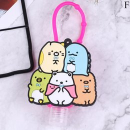wholesale hand sanitizer dispenser UK - Funny Cartoon Silicone Bath Shower Hand Sanitizer Bottle Holder Portable Liquid Soap Dispenser