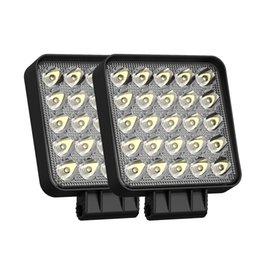 25 LED Working Light 4 Inch 12V 24V 6500K Waterproof 75W Spot beam square car work lamp offroad for trucks tractors ATVs UTVs fog driving lights truck accessories