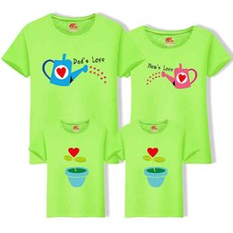 matching outfits for father daughter NZ - Outfits For Mother Daughter And Father Son Matching Family Clothing 1 piece Cultivate Love Summer Short-sleeve T-shirt 210429