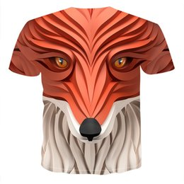 3d animals print t shirts Australia - T-shirt Short arrival casual printing fashion printed animal wolf Sleeve Funny men's round neck 3D men Tees 5HT2