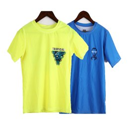 Boys Swimsuit Tops Kids Clothes Comfortable Casual Letter Tops Baby Cute Swimwear Bright Color Swimsuits Swimming Top 2021 on Sale