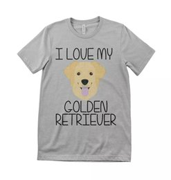 Wholesale golden retrievers for sale - Group buy I love my golden retriever dog kids unisex t shirt all sizes grey