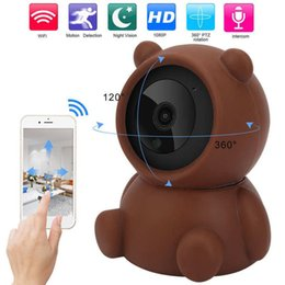 empresas marrones al por mayor-Battiphee Security Cámara Brown Bear Styling WiFi para el hogar Empresa Warehouse Shop Mini cámaras