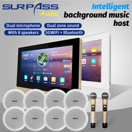 Wholesale Home Theatre System 7inch IPS Display Smart Android Bluetooth WiFi Wall Amplifier Audio PA Coaxial Ceiling Speaker Wireless Microphone Karaoke Stereo Music Combos