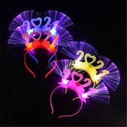 Опт Игрушки мигающие светодиодные светящиеся светлый светлый оголовье глаз носить свадьба день рождения вечеринка 2021 год подарок