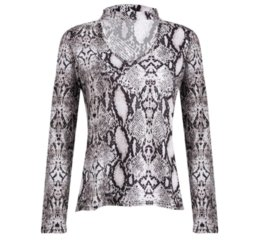 Wholesale longsleeve shirts resale online - Women Choker V Neck Casual Lace up Longsleeve Leopard Pullover Tops T shirt Snakeskin Print Casual Tops Clothes DFF1150
