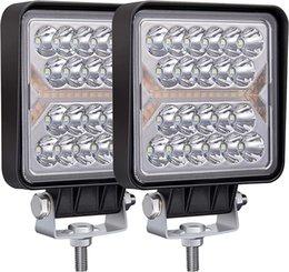 2PCS Car headlights 10-80V 4 Inch LED Work Light White amber 150W combo beam square strobe working lamp offroad for trucks tractors ATVs UTVs fog driving lights 4WD